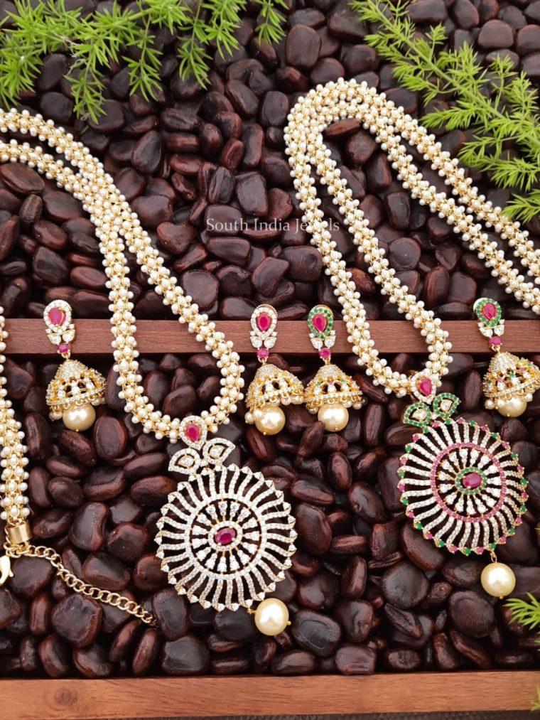 Beautiful CZ Stone Chakra Pendant Haram