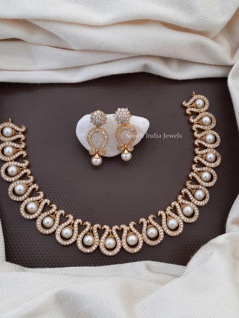 Beautiful CZ Stone Necklace Set
