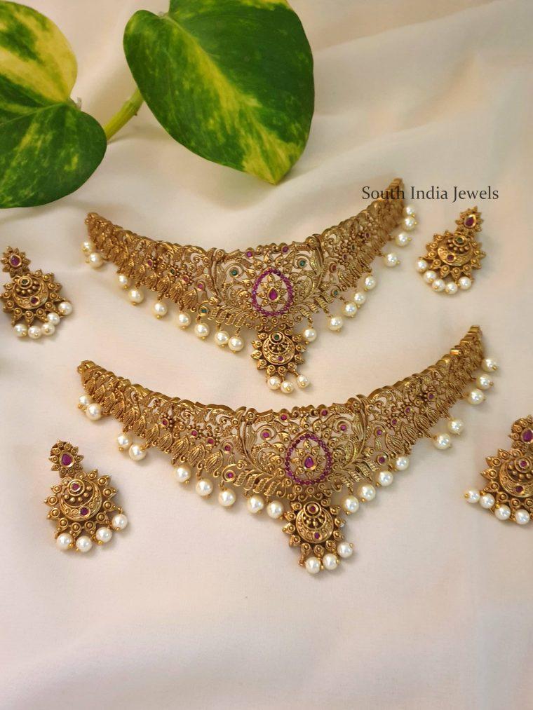 Beautiful Chandbali Design Choker