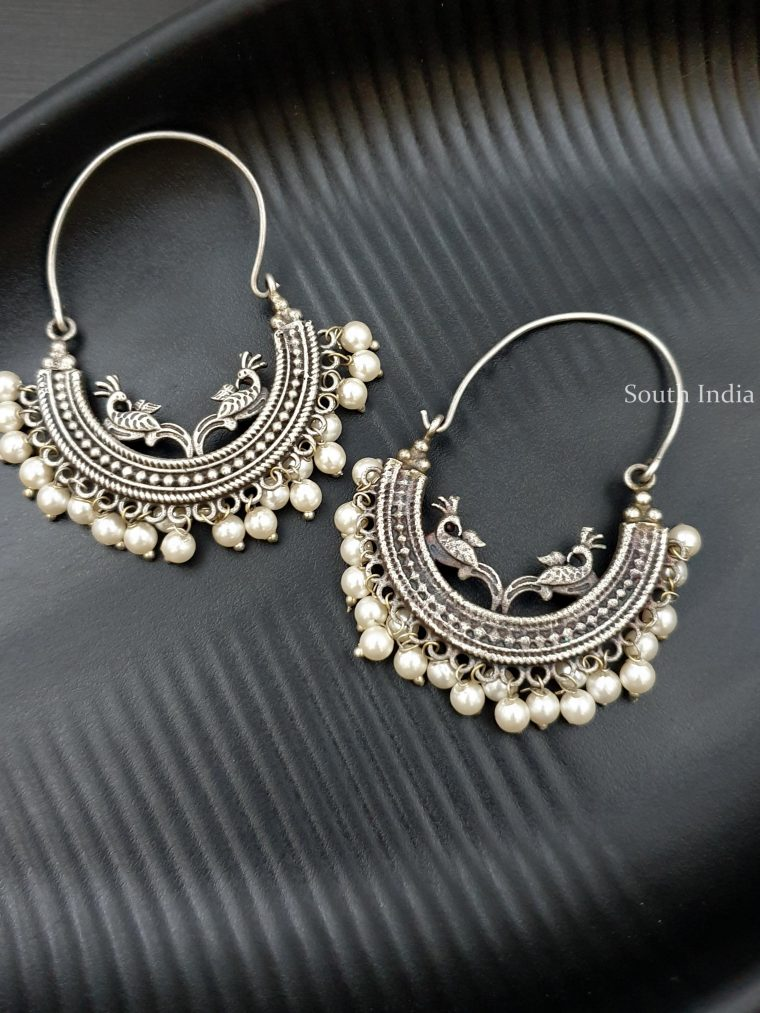 Beautiful German Silver Dangler Earrings