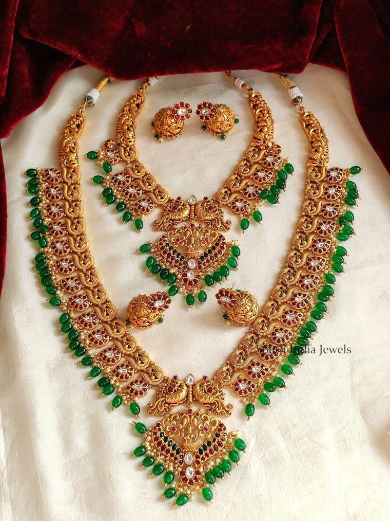 Beautiful Green Beads Bridal Combo