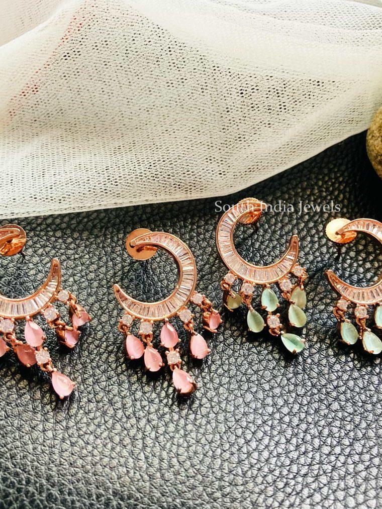 Beautiful Half Moon Rose gold Earrings