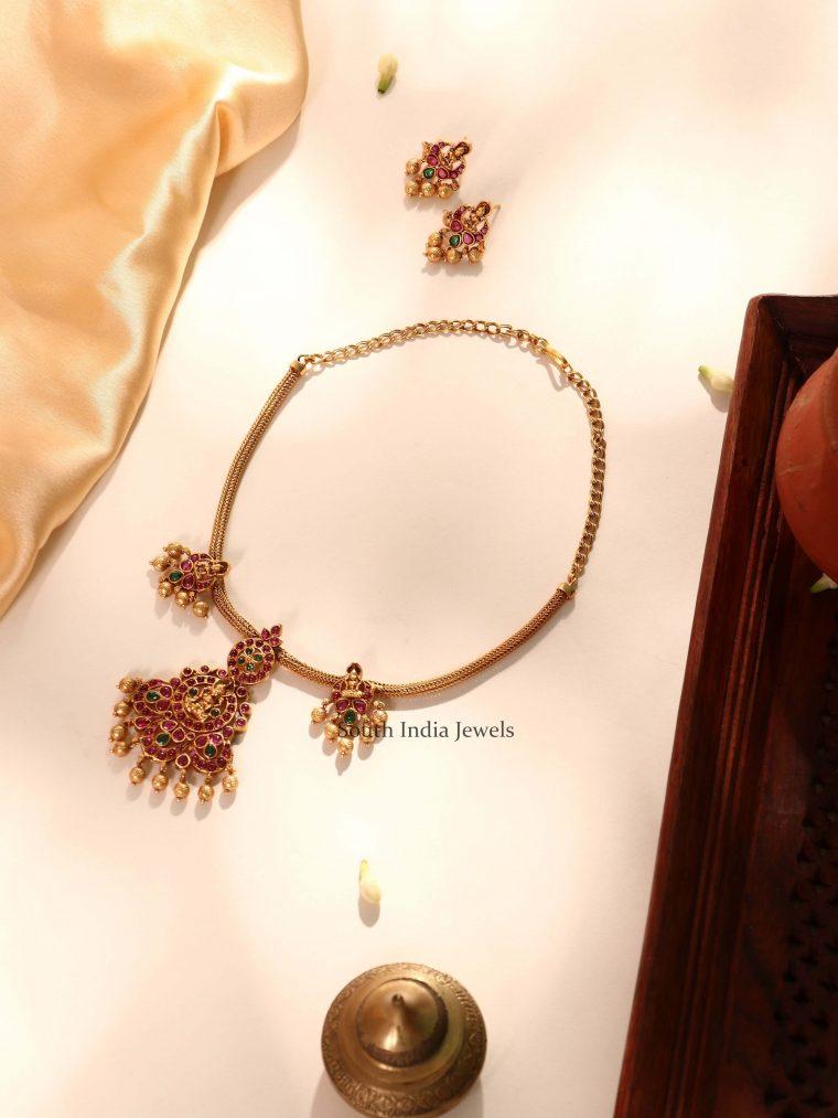 Beautiful Lakshmi Kemp Necklace (2)