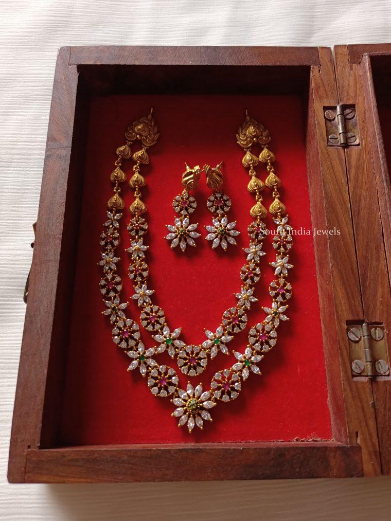 Beautiful Layered AD Stone Necklace
