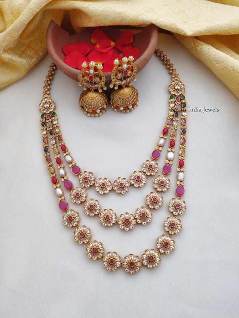 Beautiful Layered Navarathna Necklace (2)