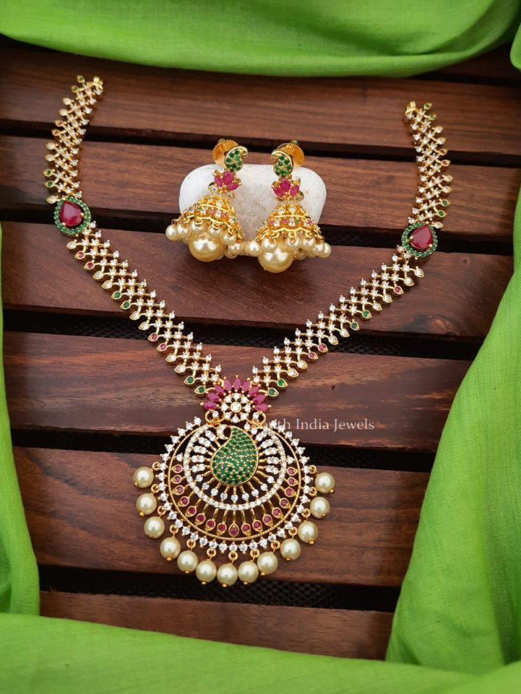 Beautiful Mango Design Pendant Necklace