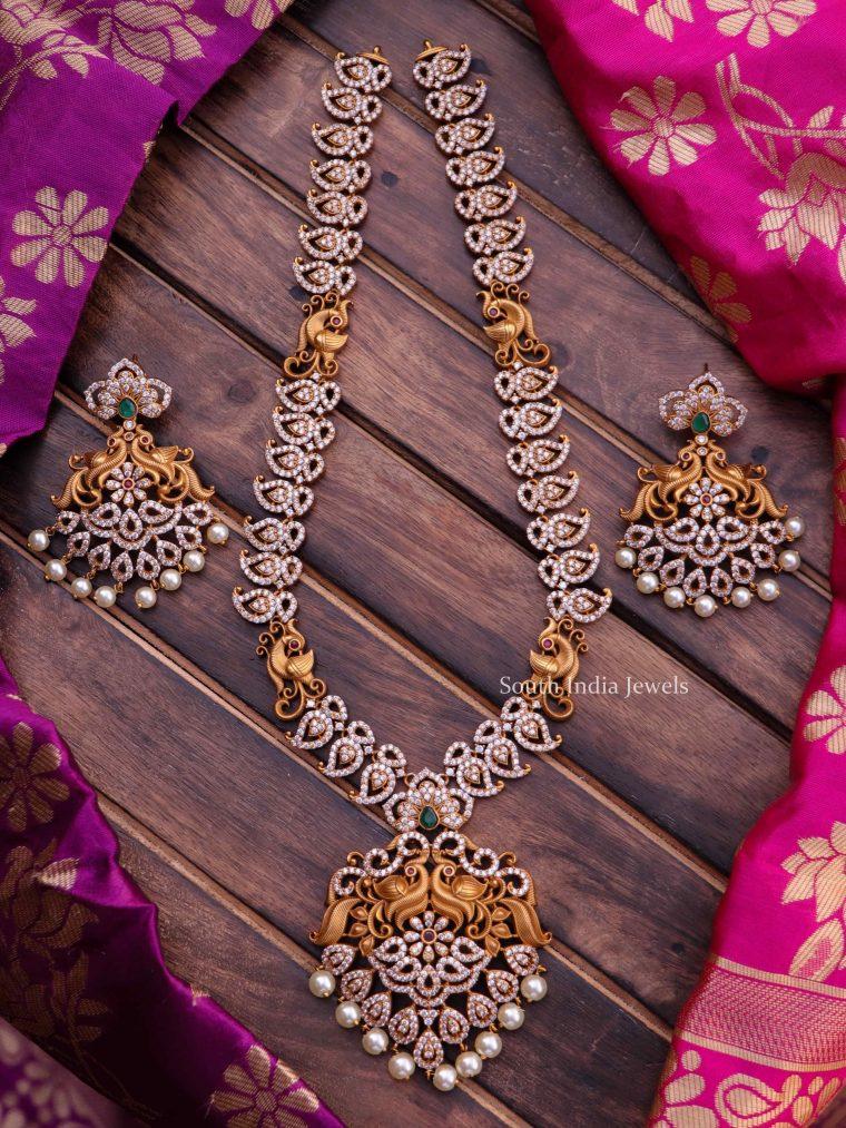 Beautiful Peacock Design Long Necklace