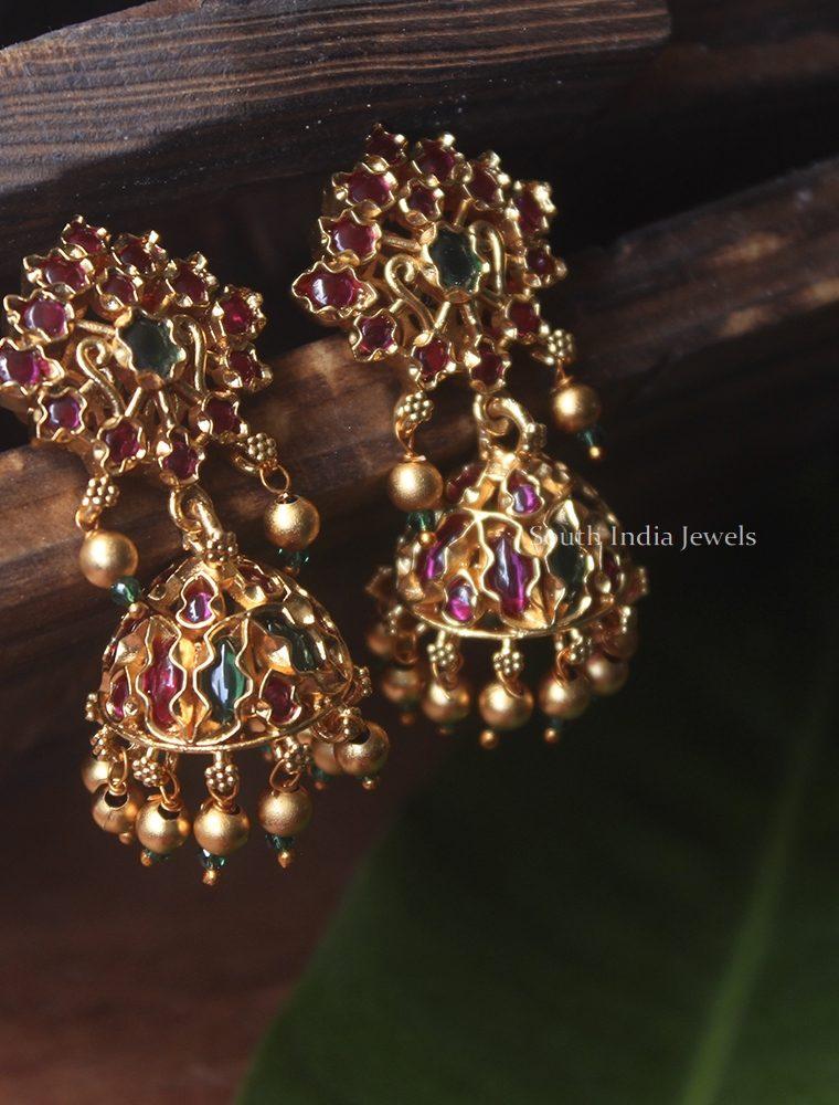 Beautiful Polki Stone Jhumka