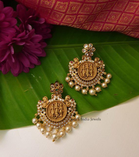 Beautiful Ram Parivar CZ Long Haram