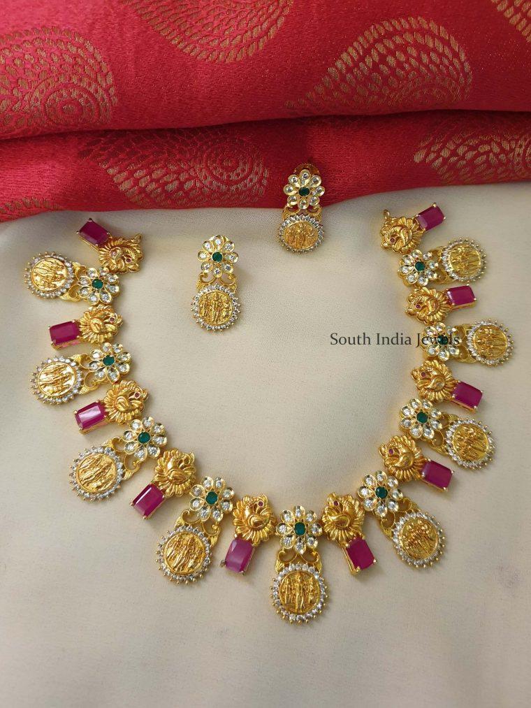 Beautiful Ram Parivar Uncut Stone Necklace