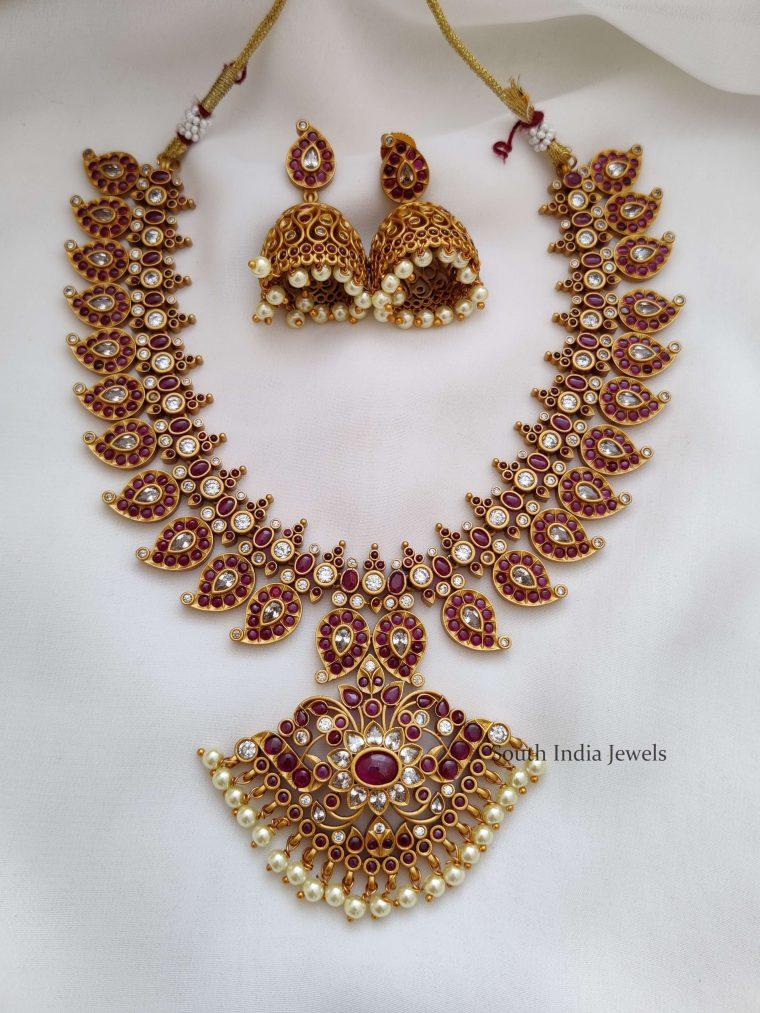 Bridal Kemp Mango Design Necklace