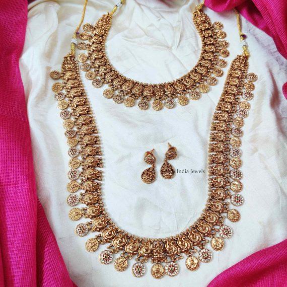 Bridal Lakshmi & Peacock Design Combo
