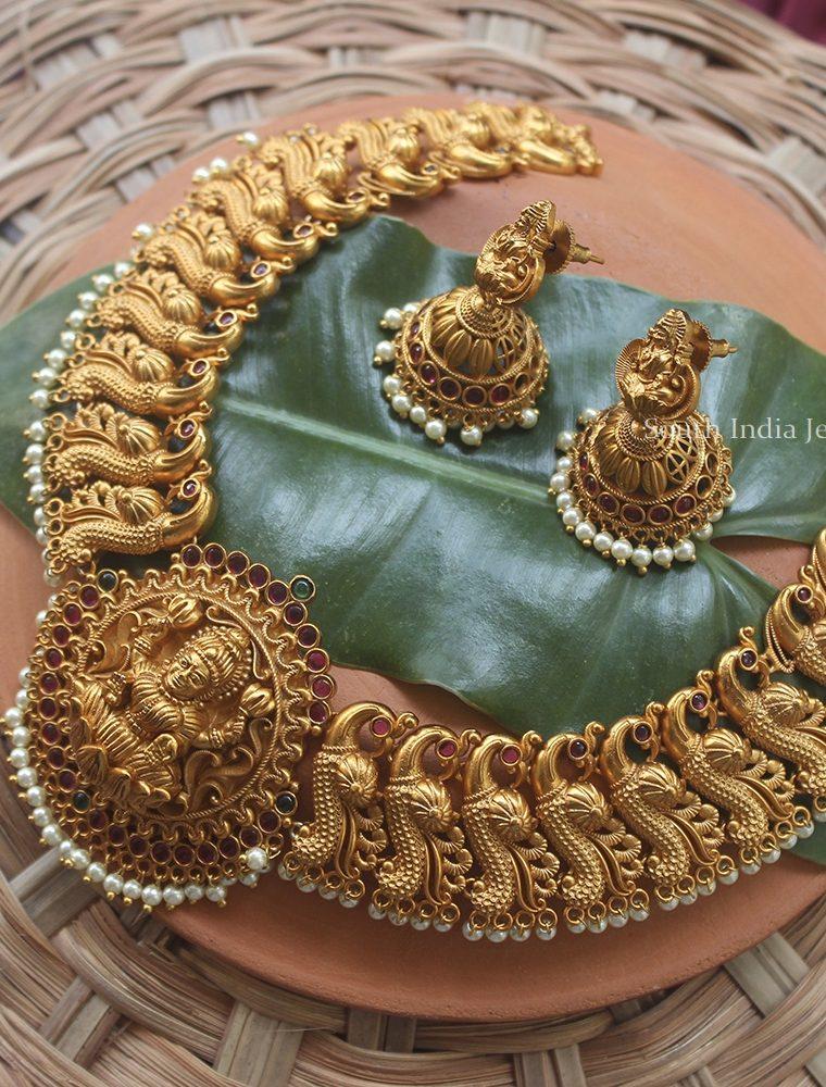 Bridal Traditional Lakshmi Necklace (3)
