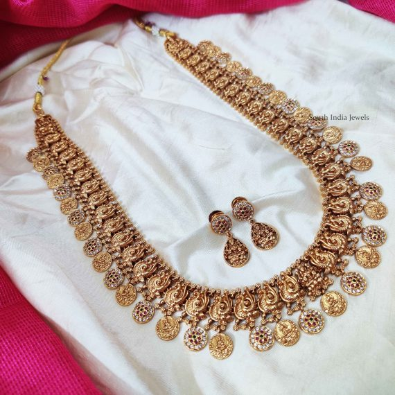 Classic Lakshmi & Peacock Design Haram (2)