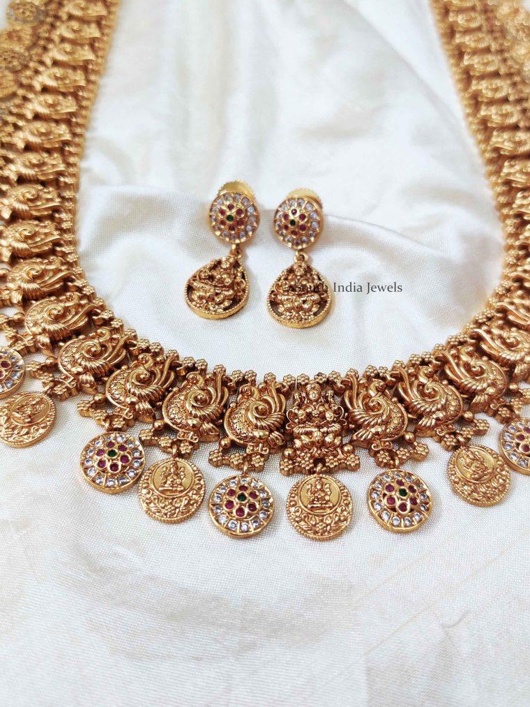 Classic Lakshmi & Peacock Design Haram (3)