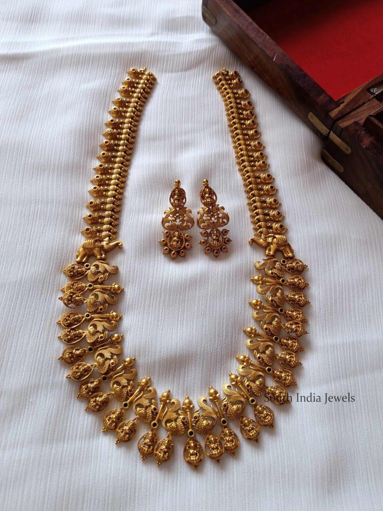 Classic Peacock Lakshmi Haram (2)