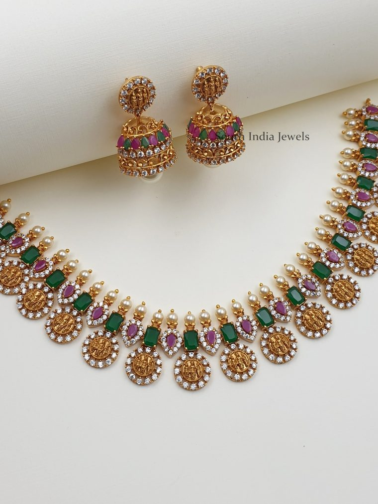 Classic Ramparivar Multi Stone Necklace (2)