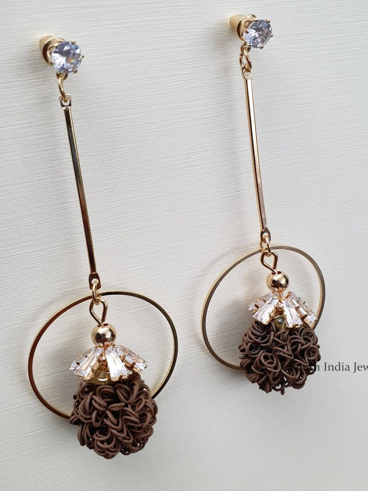 Cute Party Wear Dangler Earrings (4)