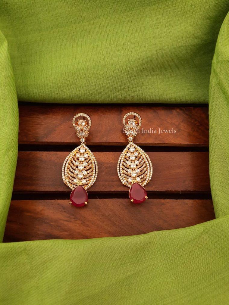 Elegant CZ Stone Earrings