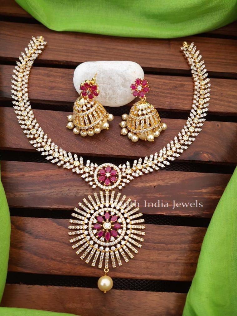 Elegant CZ Stone Necklace