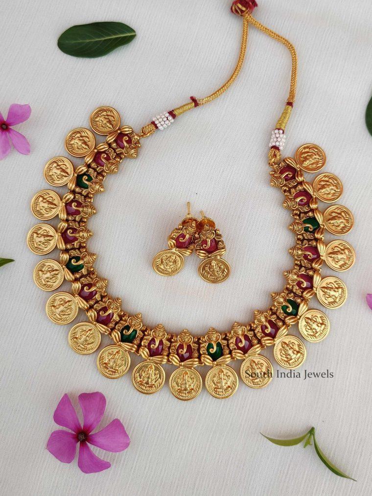 Elegant Ganesh Coin Choker (3)