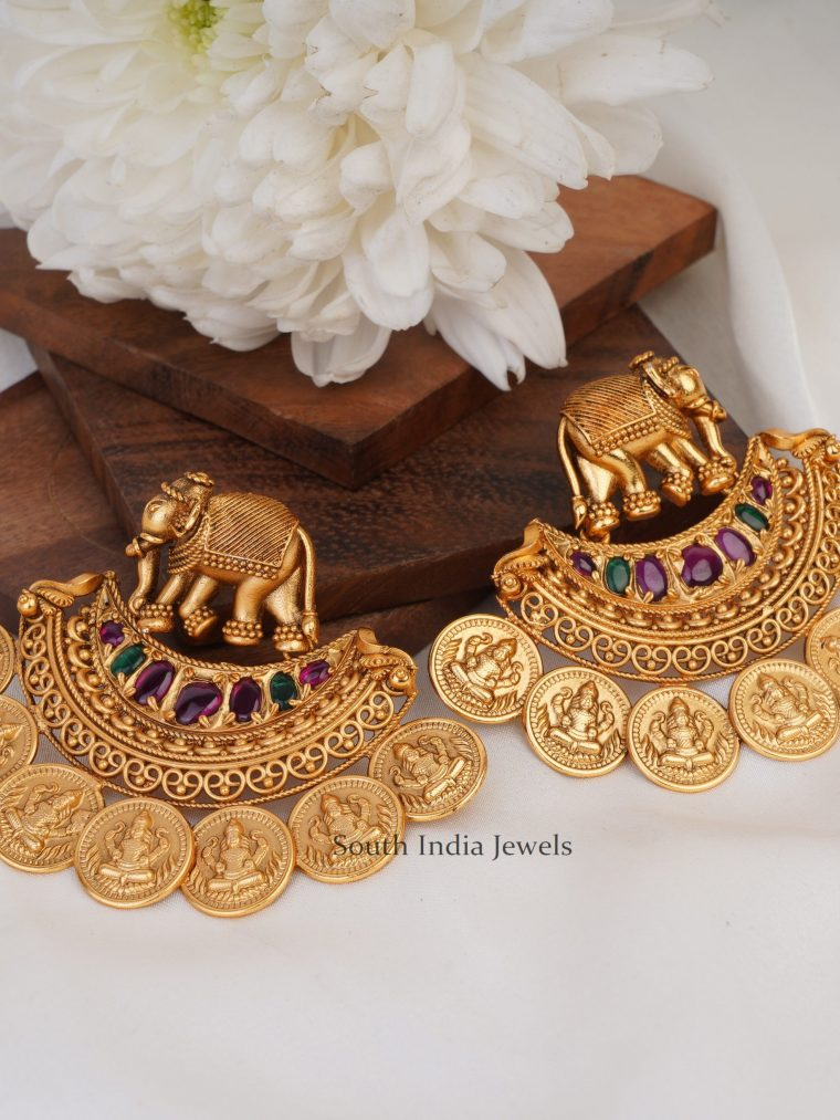 Elegant Lakshmi Coin Earrings