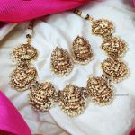 Elegant Lakshmi Necklace with Pearl