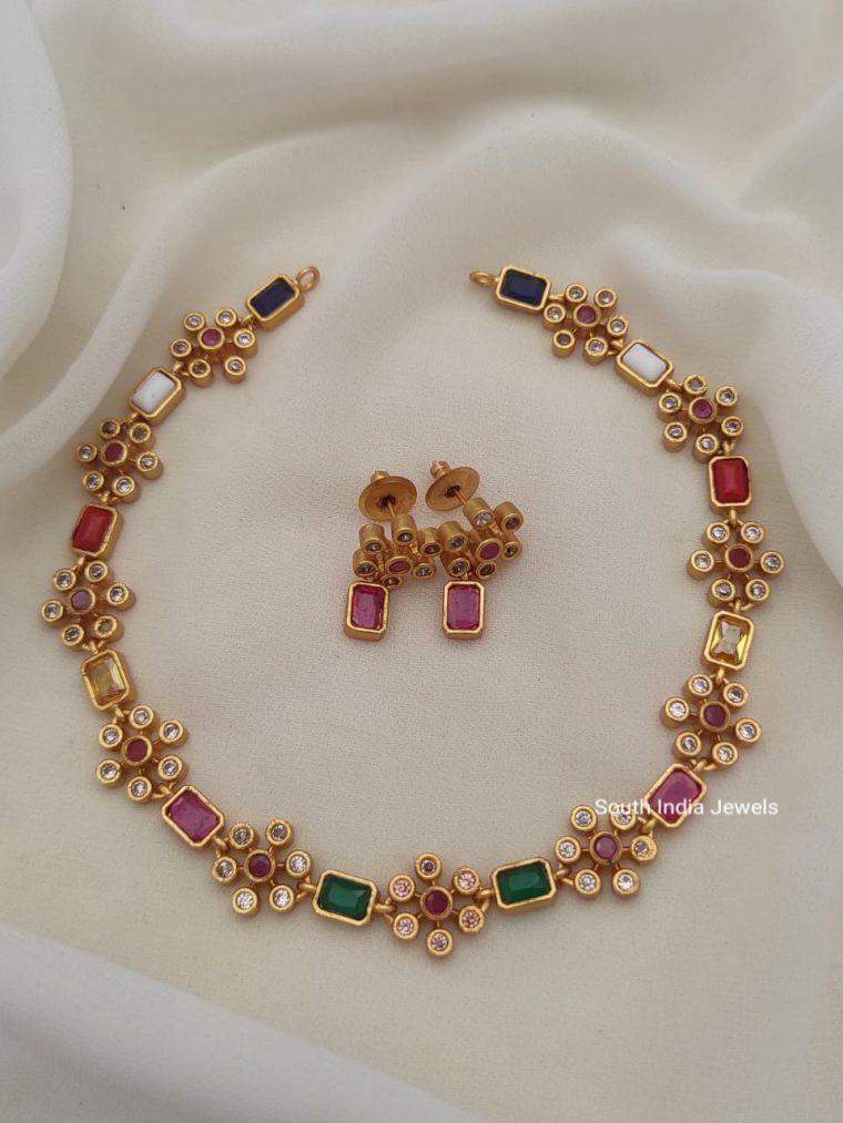 Elegant Mutli Colour Necklace