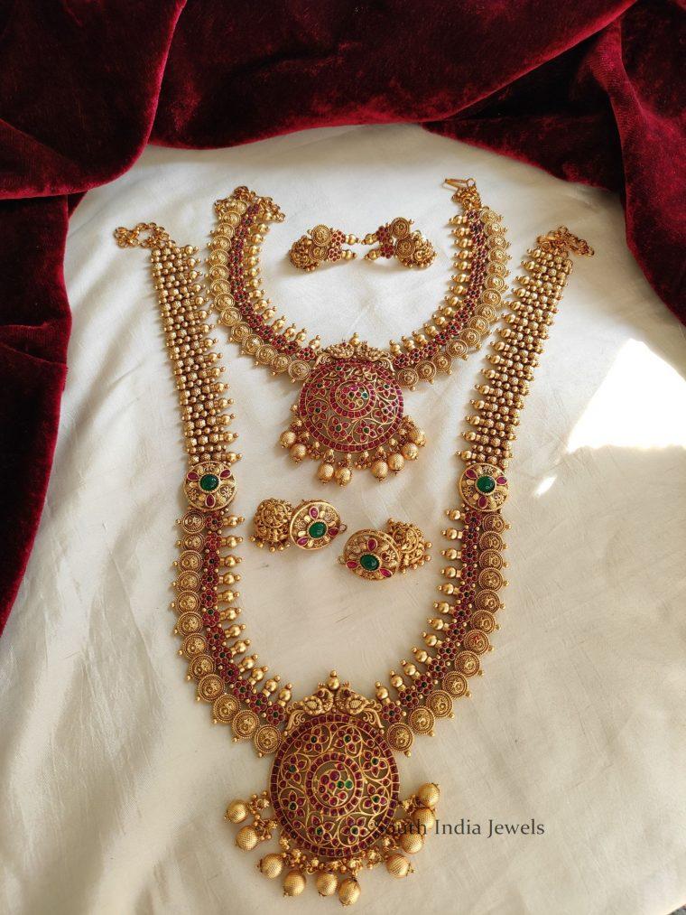 Elegant Peacock & Coin Design Bridal Set (2)
