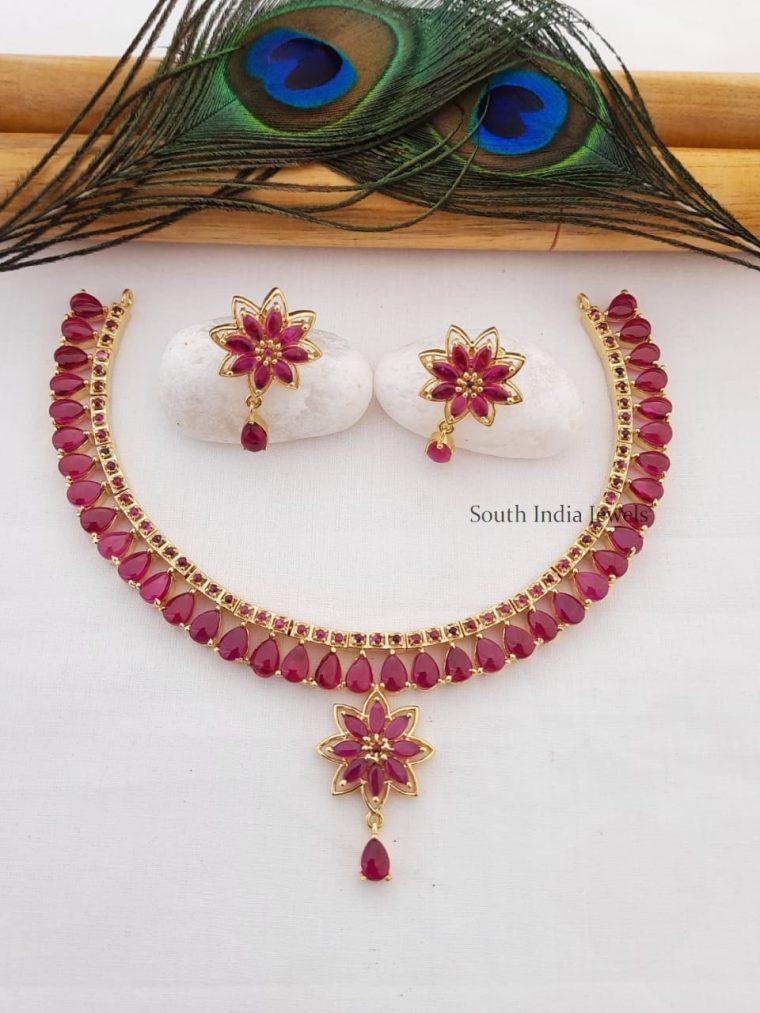 Elegant Real Kemp Stone Drop Necklace