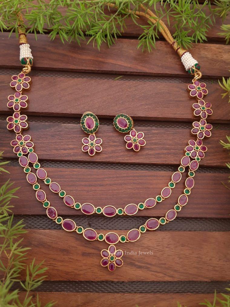 Elegant Ruby Layered Necklace