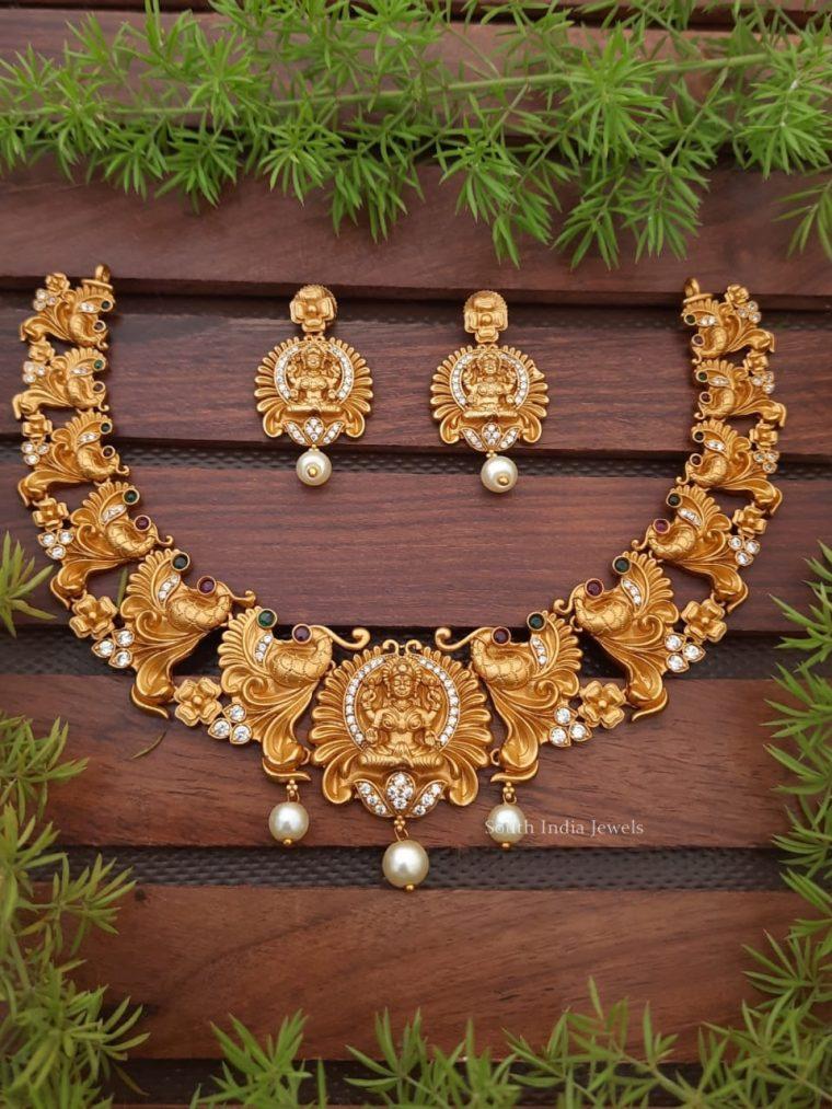 Exquisite Lakshmi Design Necklace