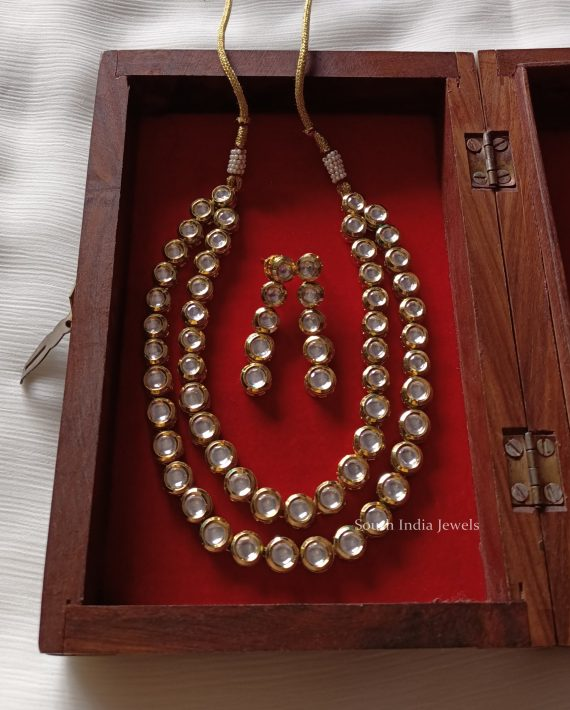 Fancy Kundan Layered Necklace (2)