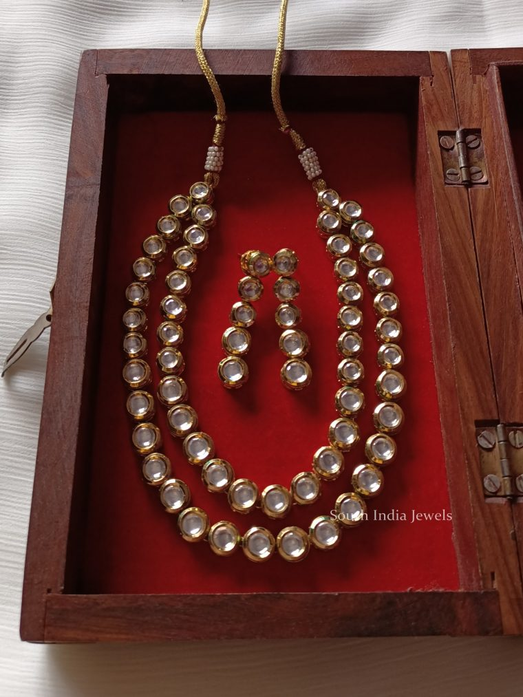 Fancy Kundan Layered Necklace (2)