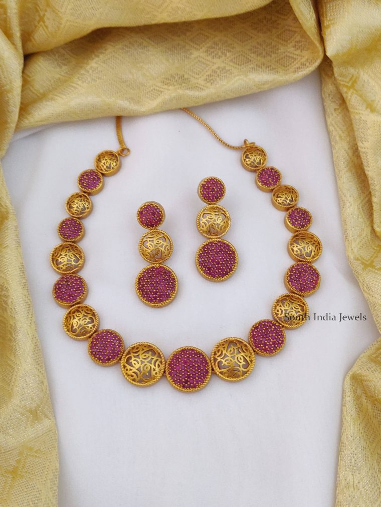 Fancy Ruby Stone Necklace