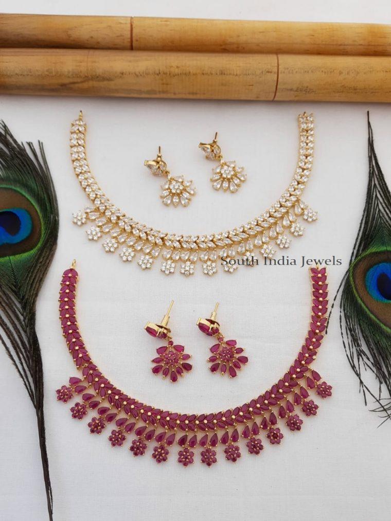 Gorgeous Flower Design Necklace Set
