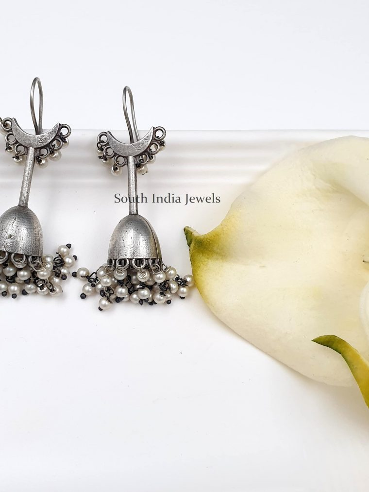 German Silver Statement Jhumka