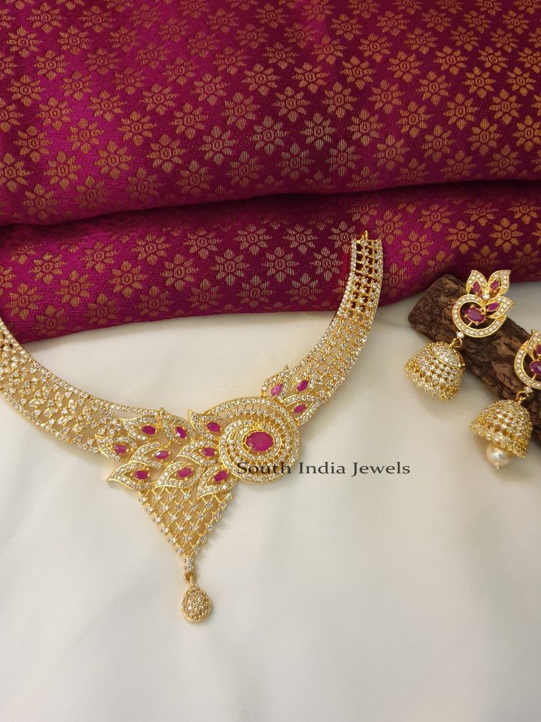 Elegant Peacock Design Necklace Set