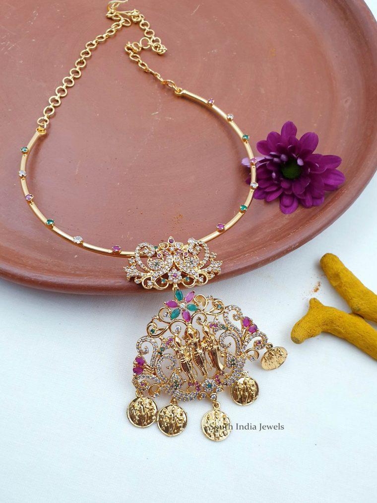 Gorgeous CZ Stone Ramparivar Necklace (3)