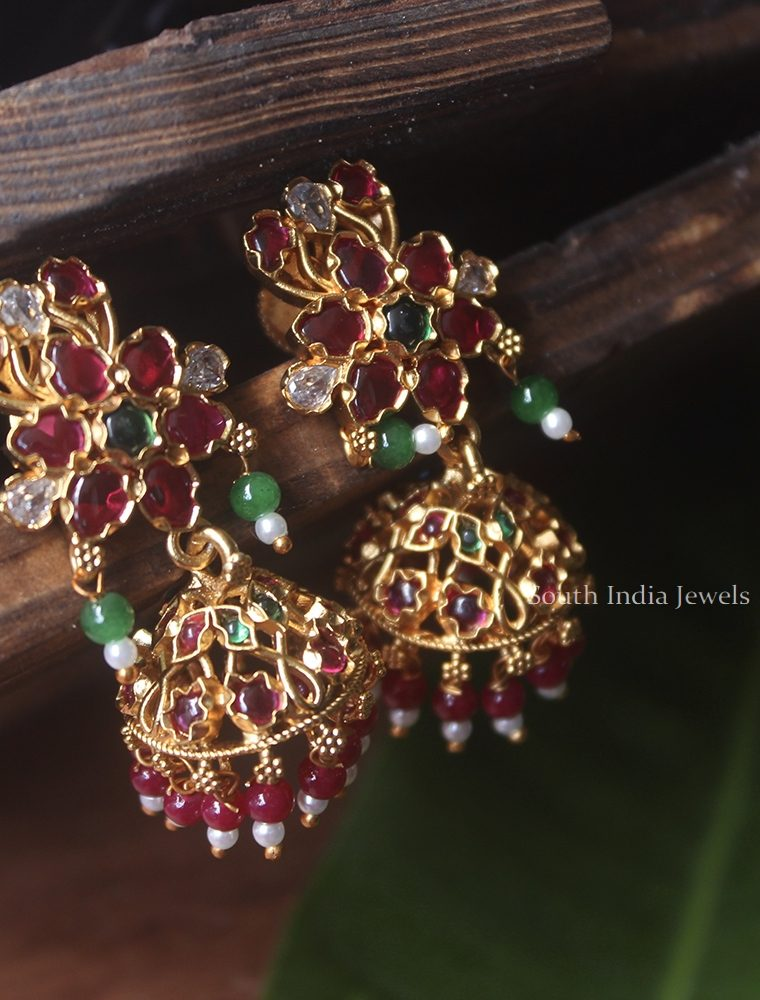 Gorgeous Flower Design Jhumkas