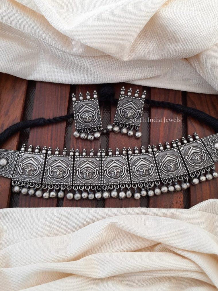 Gorgeous German Silver Devi Choker