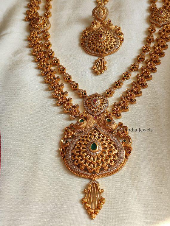 Gorgeous Gold Look Alike Peacock Haram