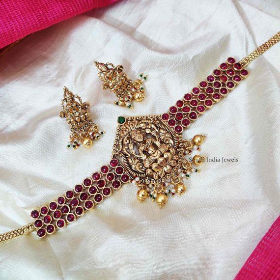 Gorgeous Lakshmi Design Bridal Choker (2)
