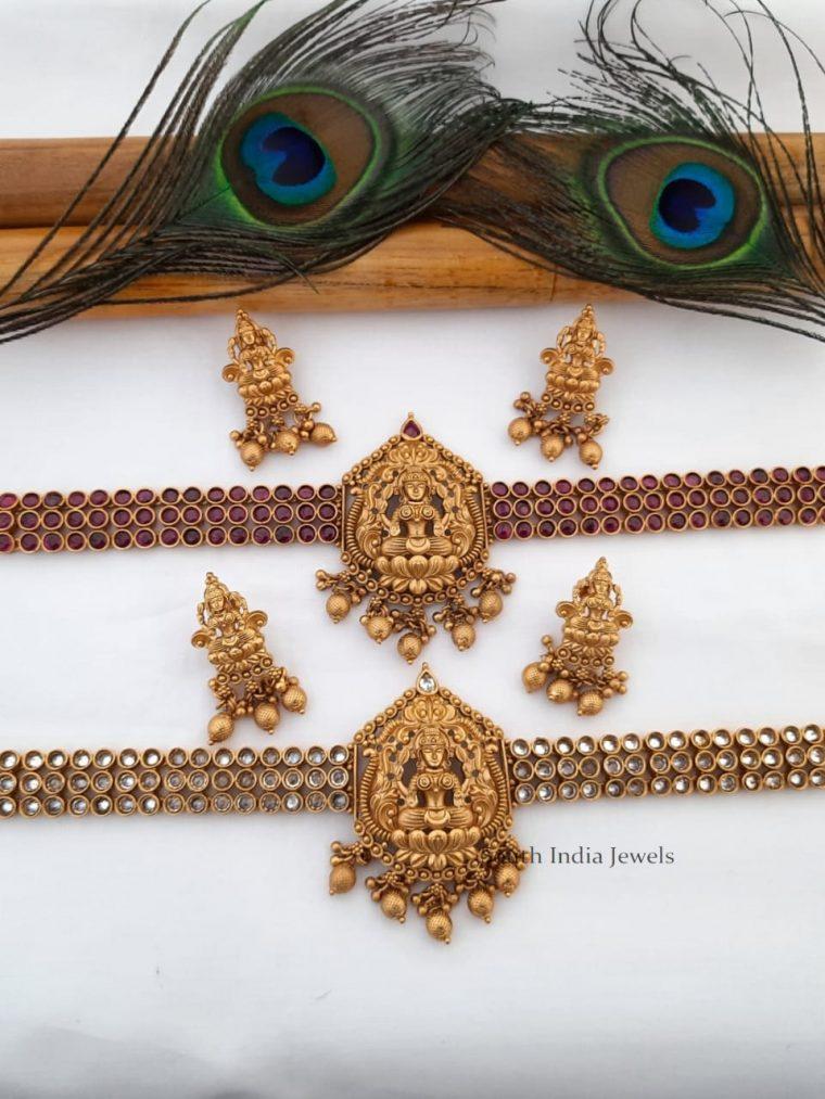 Gorgeous Lakshmi Pendant Choker