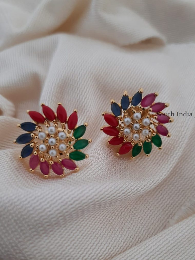 Gorgeous Multi Color Stone Earrings