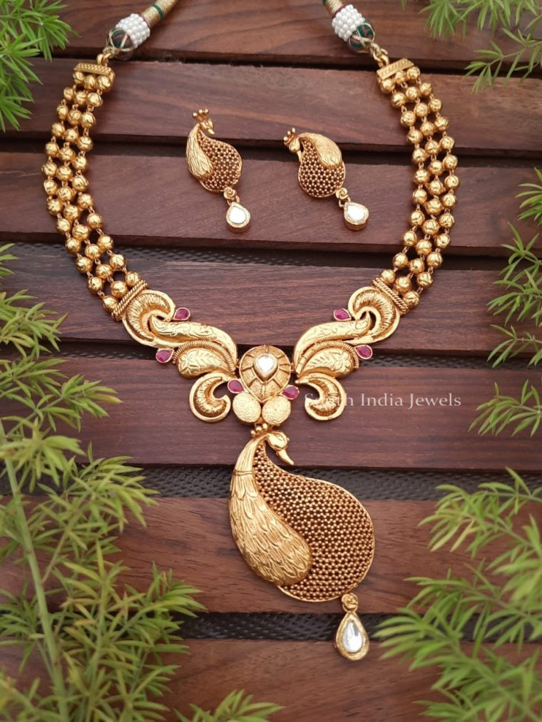 Gorgeous Nagasi Peacock Necklace