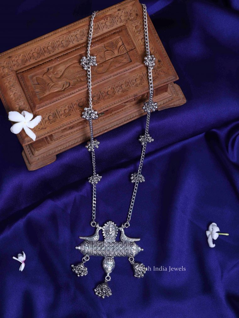 Gorgeous Peacock Design Ghungroo Necklace
