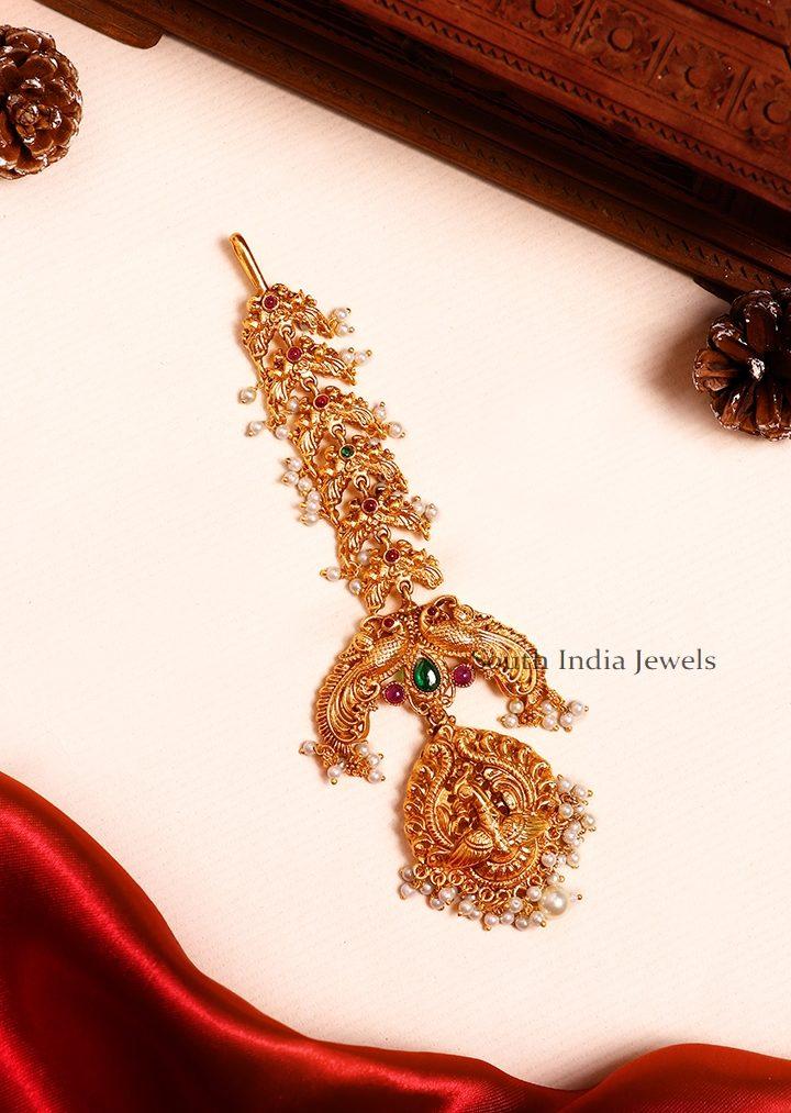 Gorgeous Peacock Design Maang Tikka