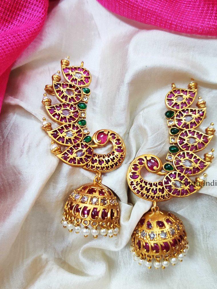 Gorgeous Peacock Ear Cuff Jhumka