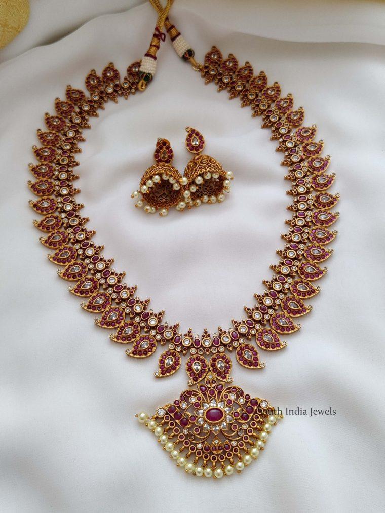 Grand Bridal Kemp Mango Design Haram (2)